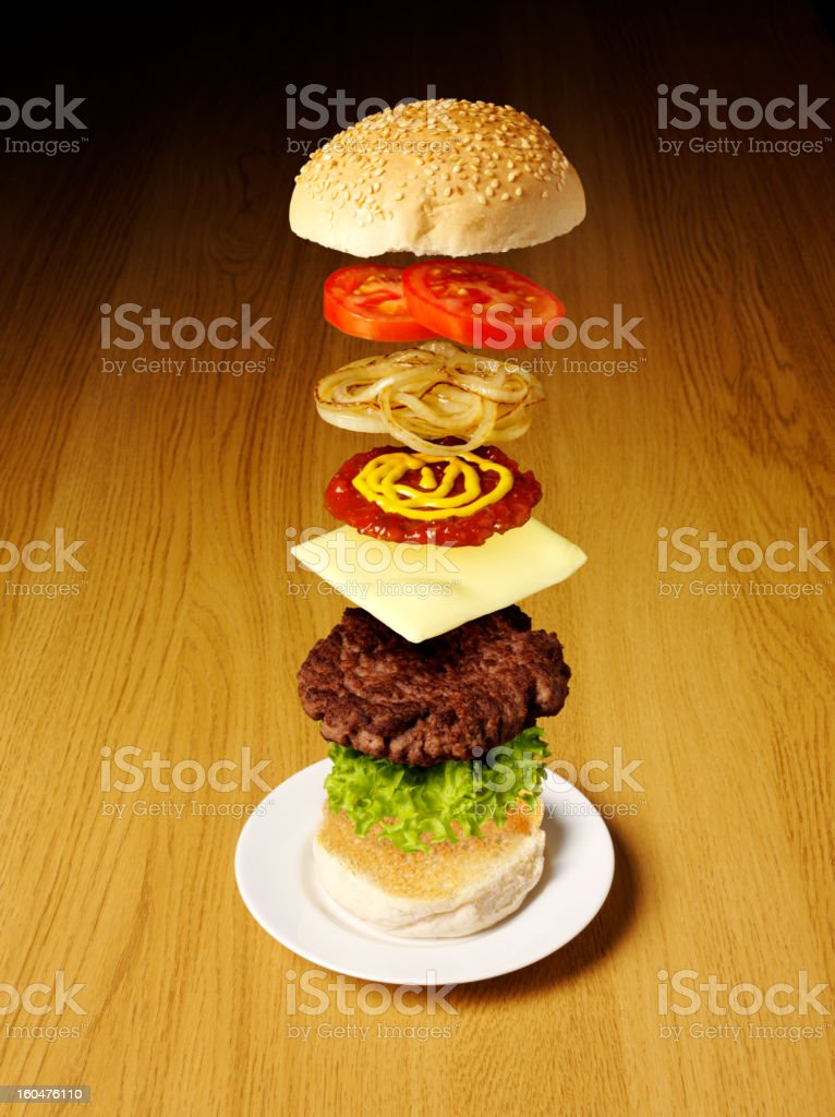 Fast Food Beef Burger stock photo