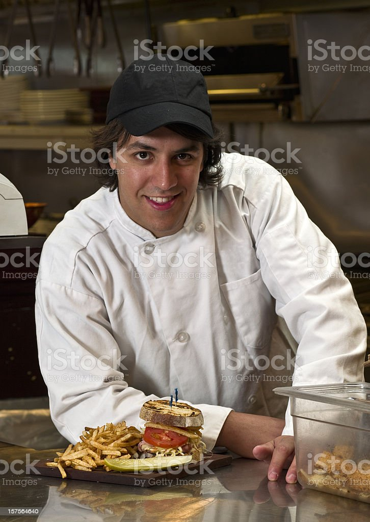 Fast food Chef royalty-free stock photo