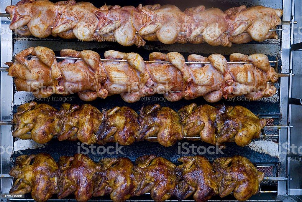 fast food chicken - Grillhändl stock photo