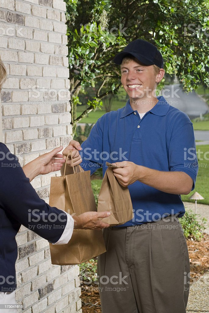 Fast Food Delivery stock photo