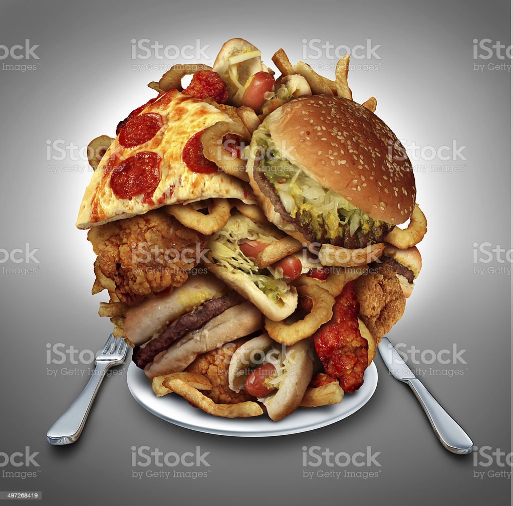 Fast Food Diet stock photo