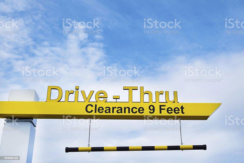 Fast Food Drive Thru Lane stock photo