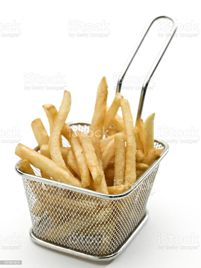 Fast food french fries stock photo