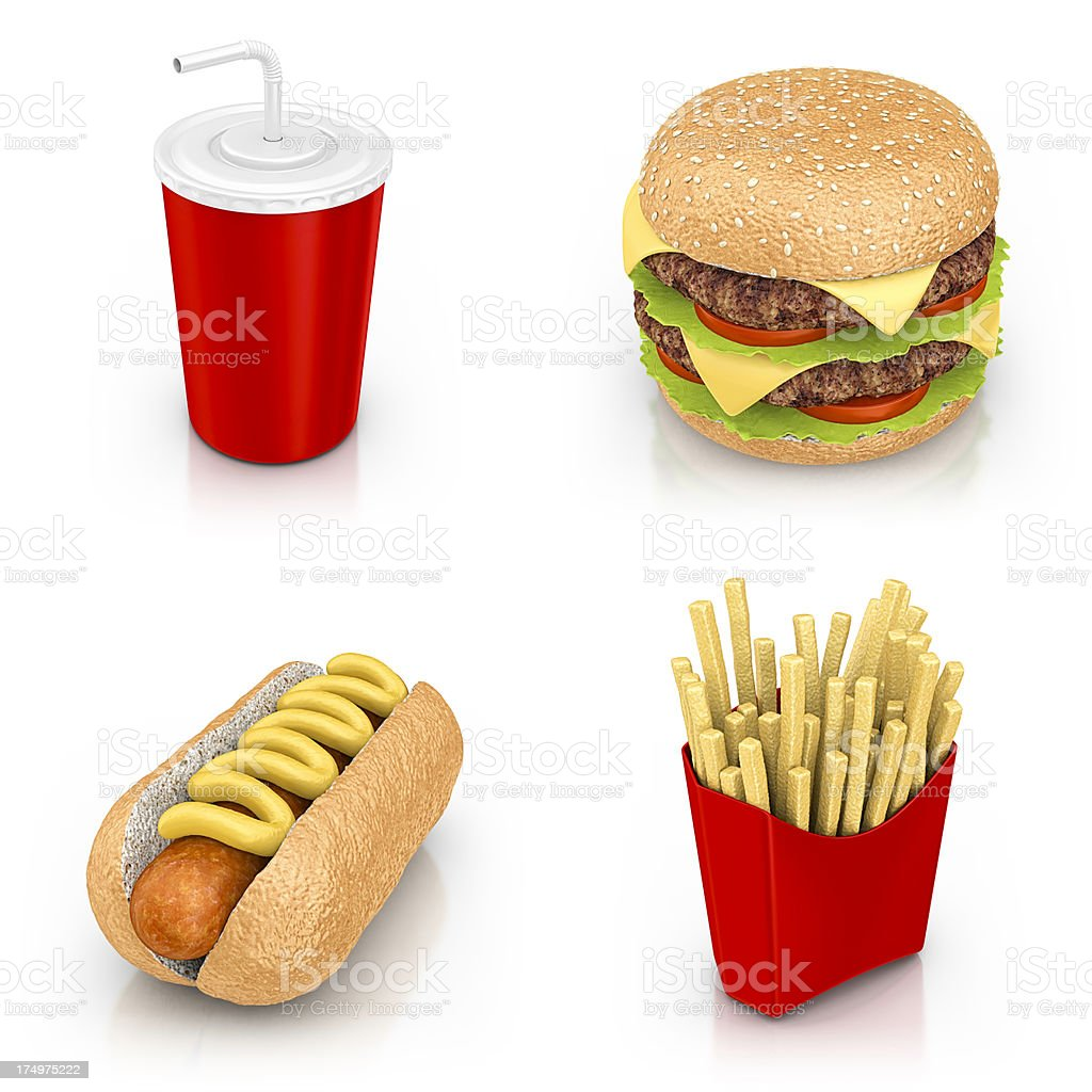 fast food icons stock photo