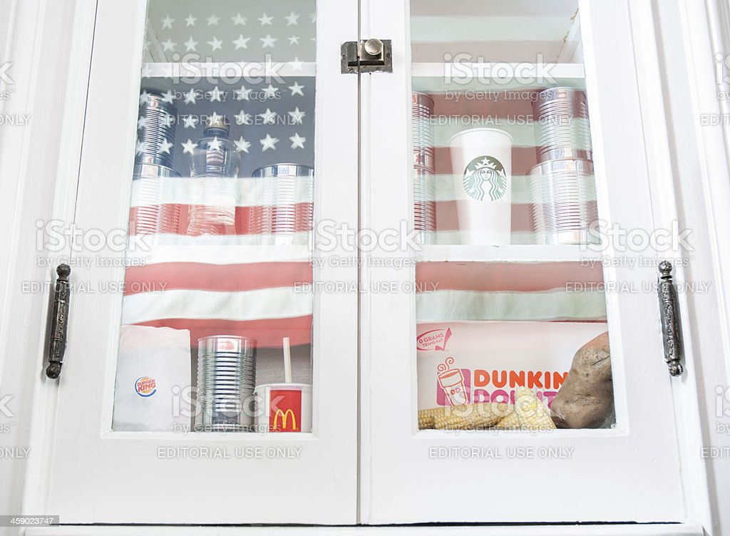 Fast food in America stock photo