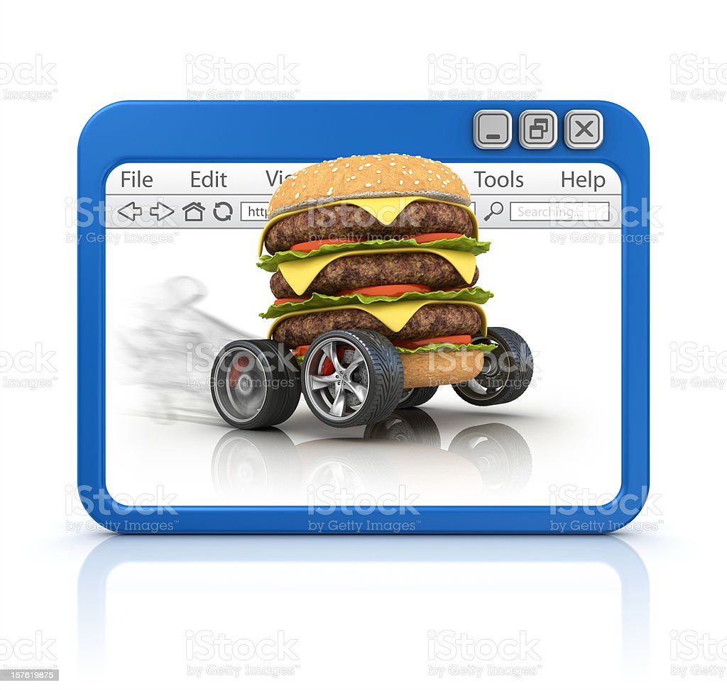 fast food in browser royalty-free stock photo