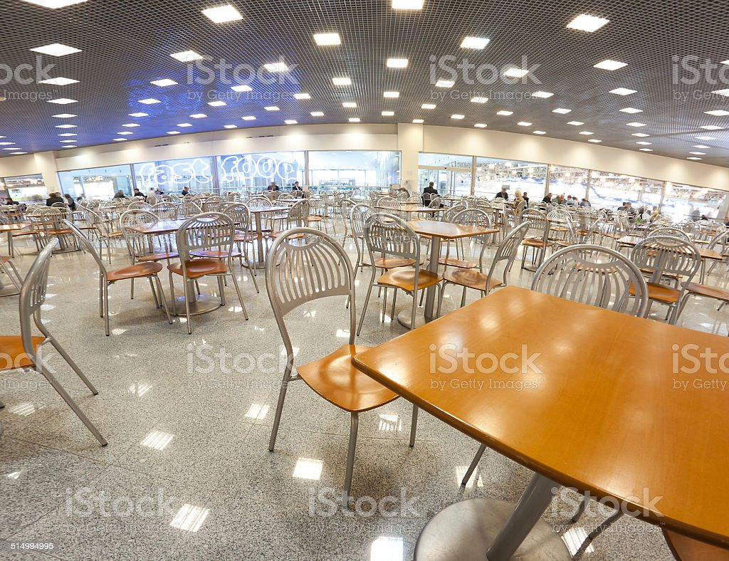 Fast food interior concept stock photo
