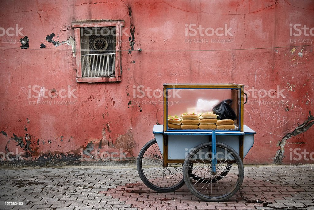 Fast food Istanbul's street royalty-free stock photo