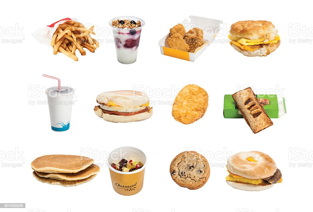 Fast food items stock photo