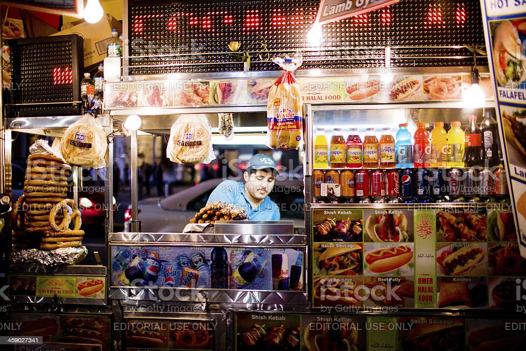 Fast food kiosk, New York stock photo