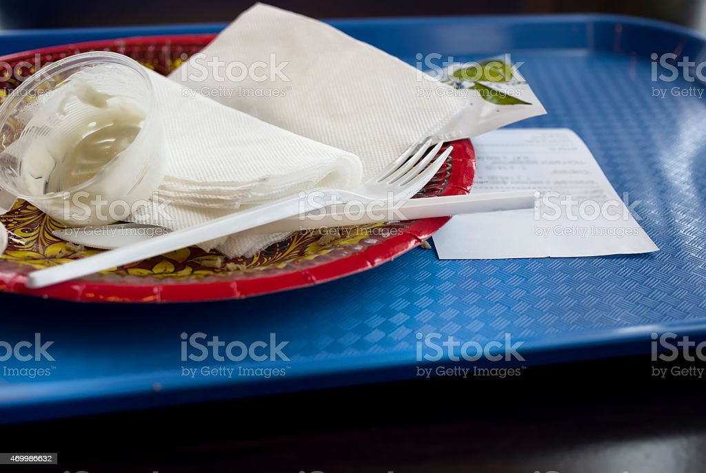 Fast food leftovers stock photo