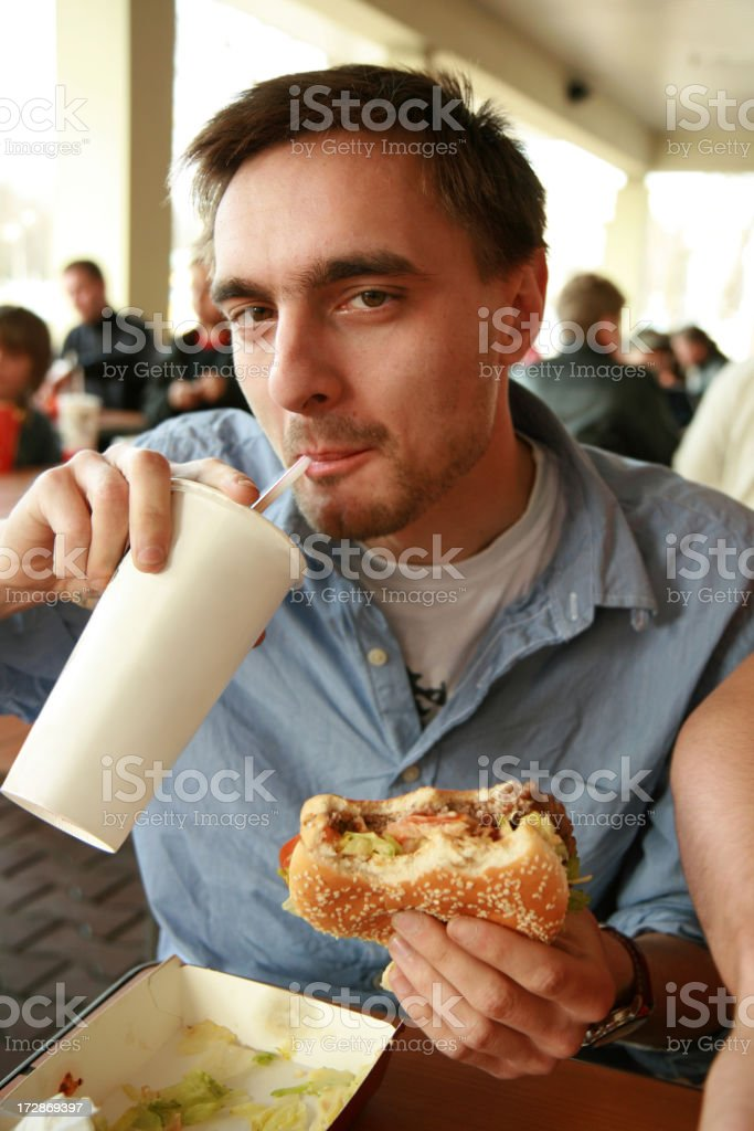 fast food lover royalty-free stock photo