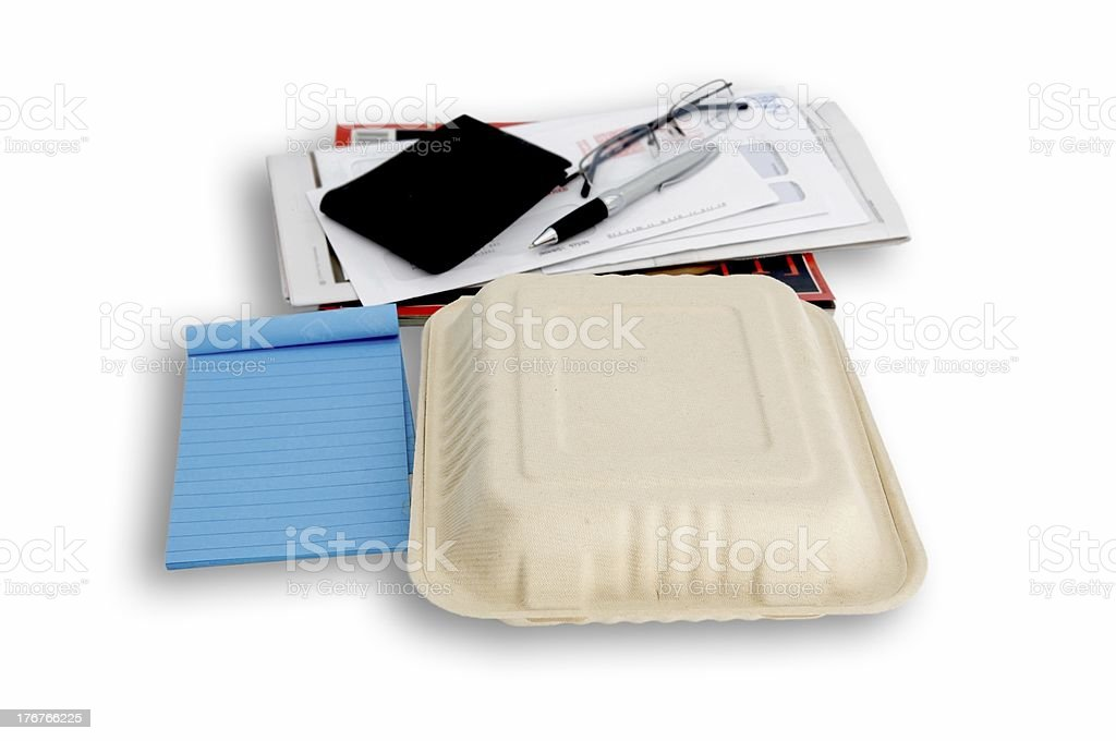 fast food lunch box royalty-free stock photo