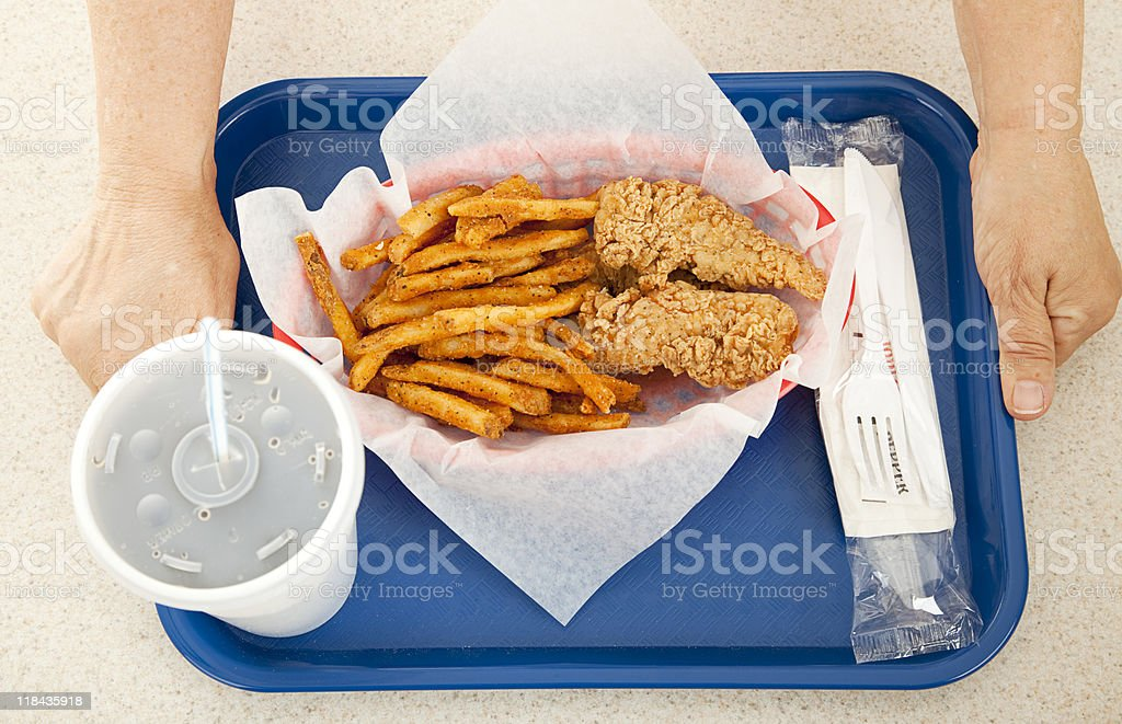 Fast Food Meal royalty-free stock photo