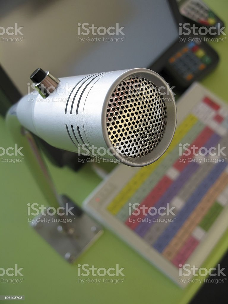 Fast Food Microphone royalty-free stock photo