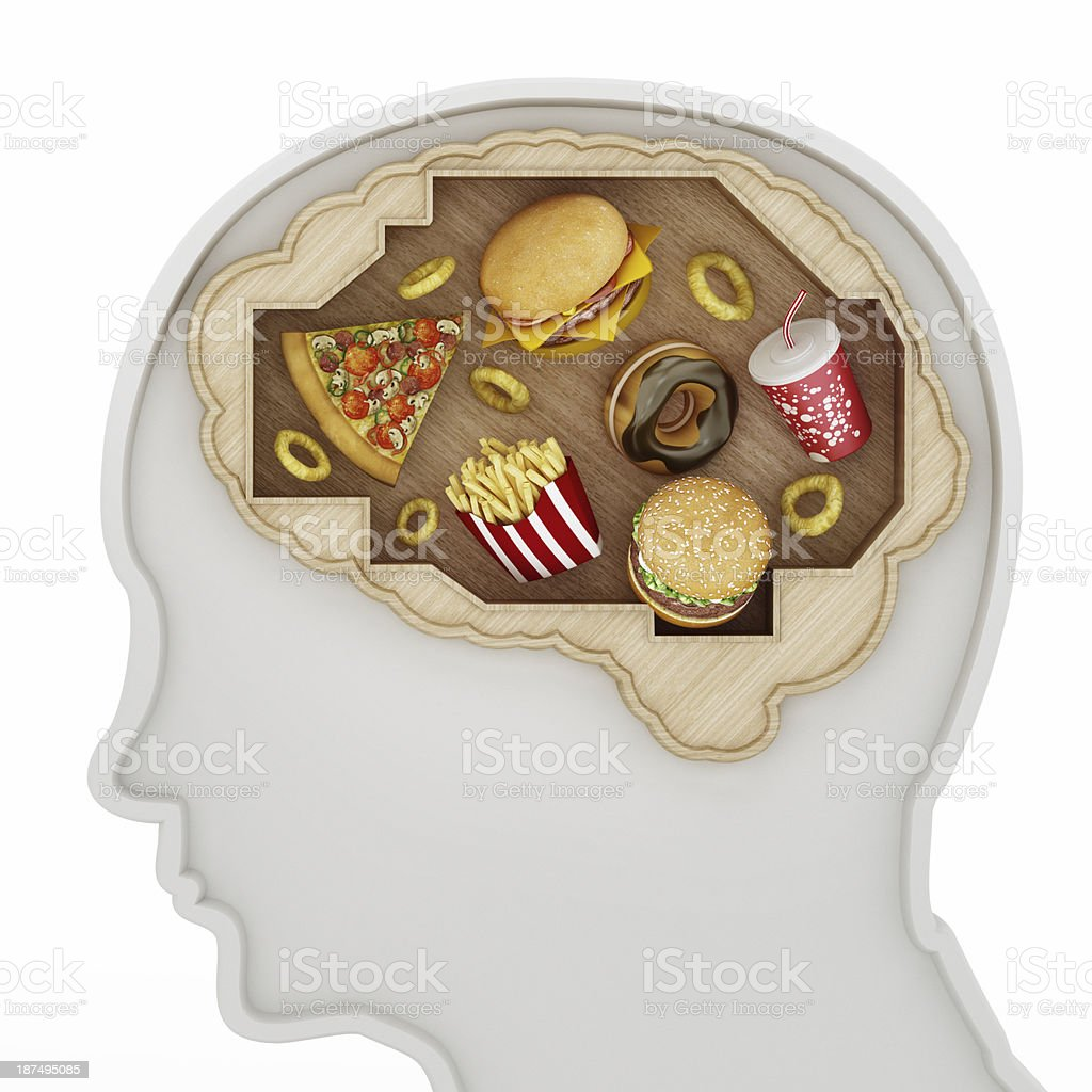 Fast food mind stock photo
