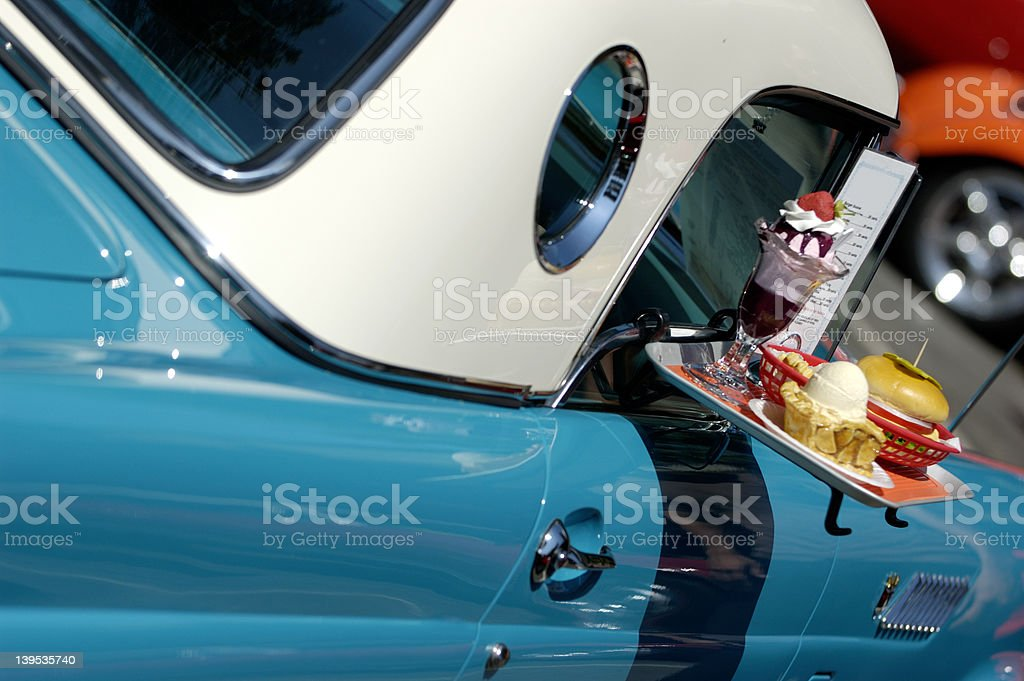Fast food on the go stock photo
