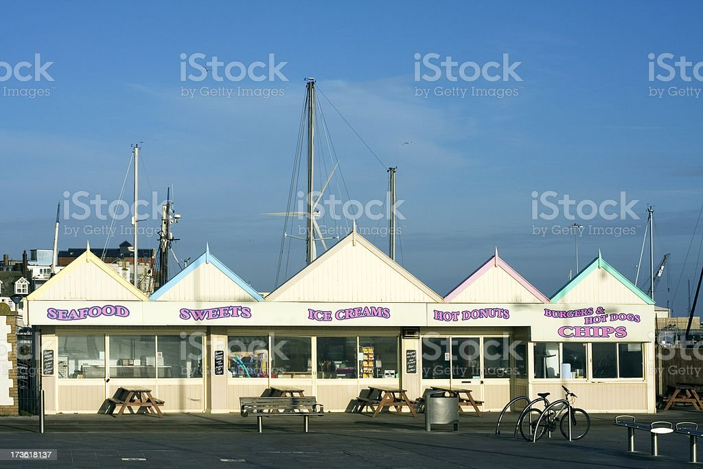 Fast food outlet stock photo