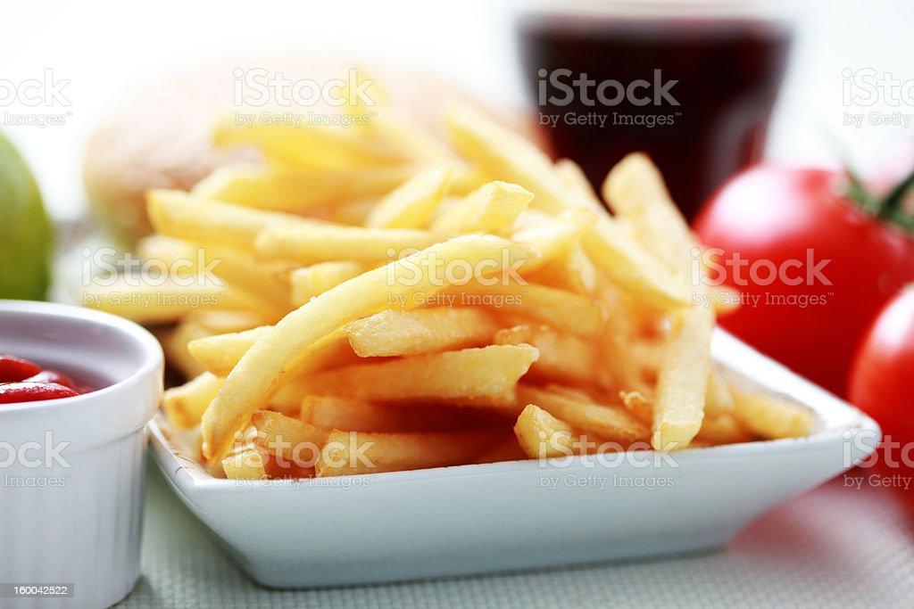 fast food stock photo