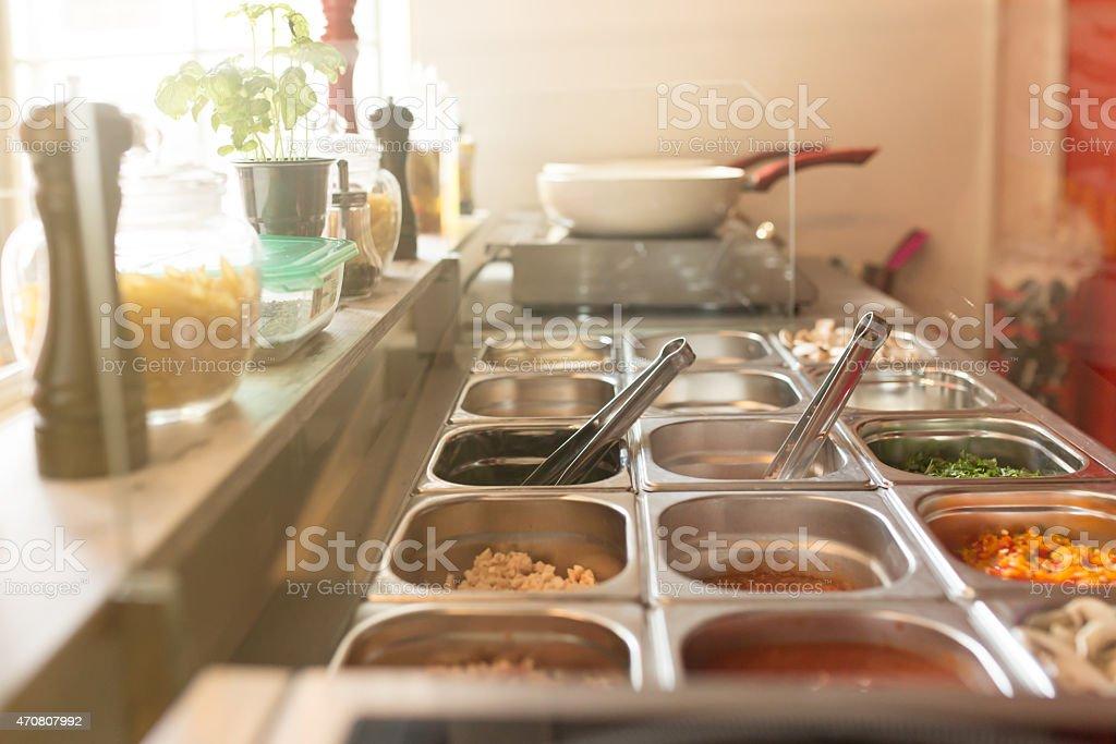 Fast Food Restaurant stock photo