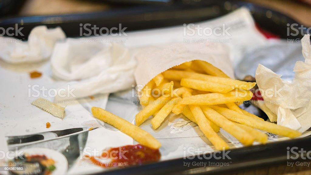 Fast Food rubbish stock photo