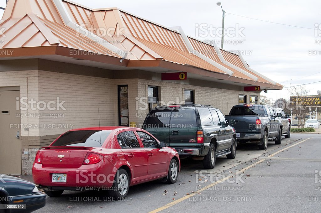 Fast Food Rush stock photo