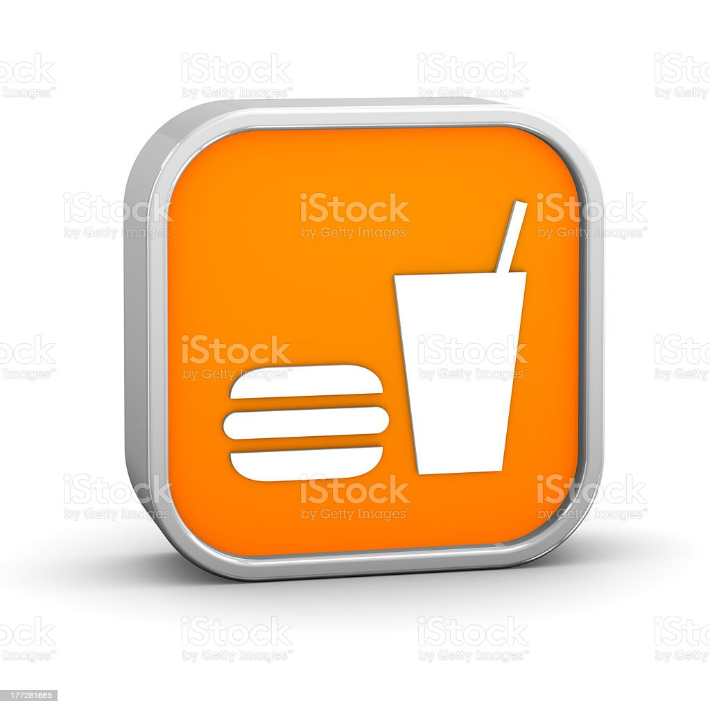 Fast food sign stock photo