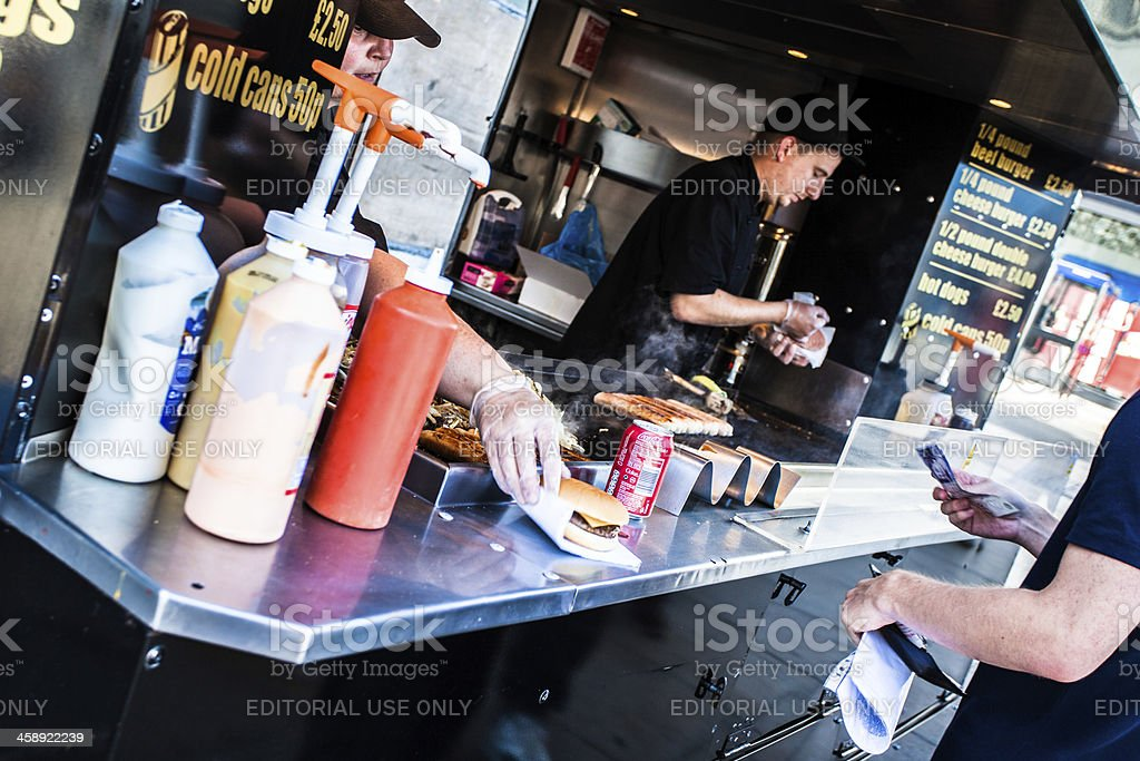 Fast Food Stall in London stock photo