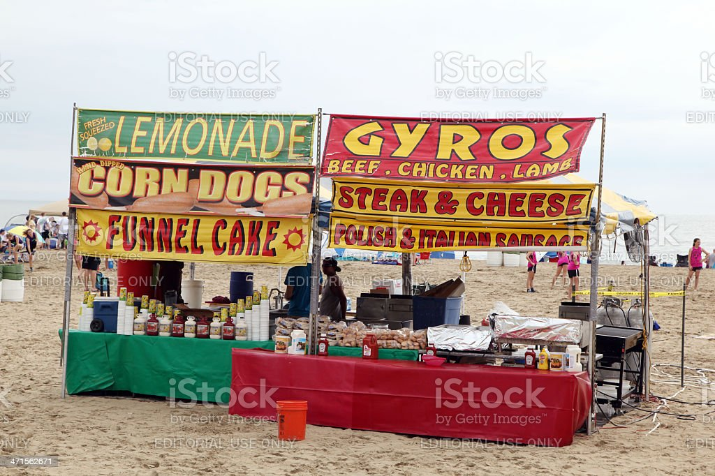 Fast Food Stand stock photo