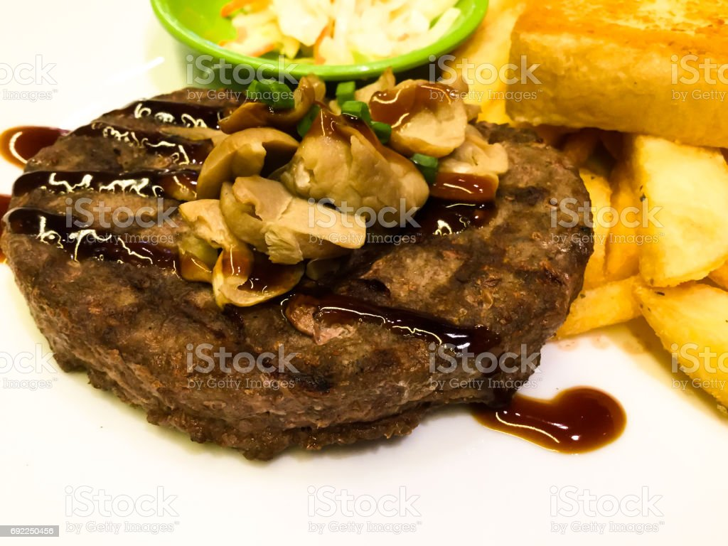 fast food steak easy to eat stock photo