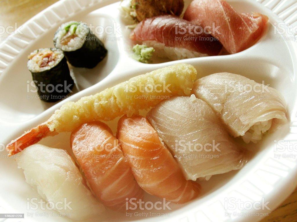 Fast Food Sushi royalty-free stock photo
