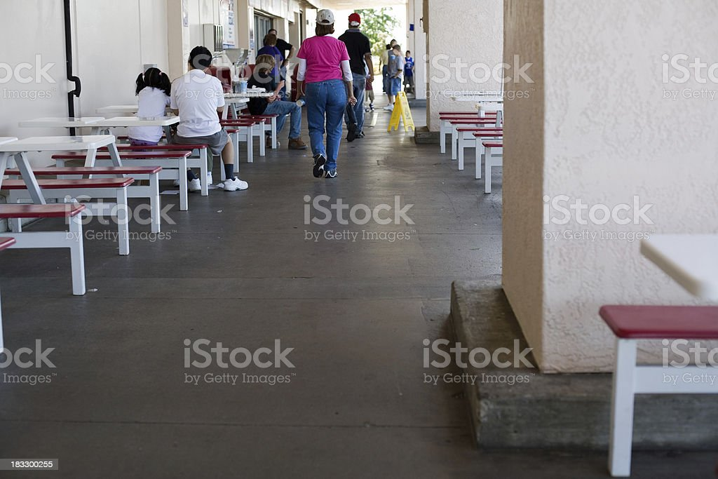 Fast Food Walk In royalty-free stock photo