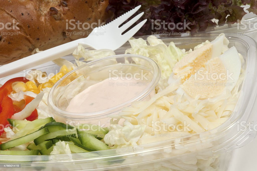 Fast food with cheese and salad royalty-free stock photo