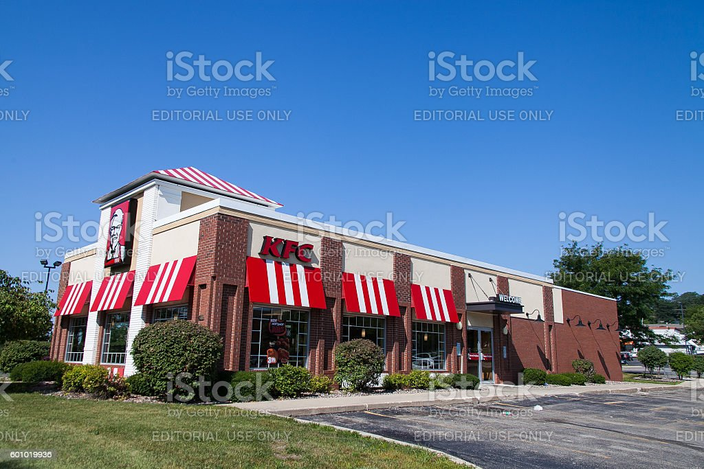 KFC fast foods restaurant in Madison stock photo