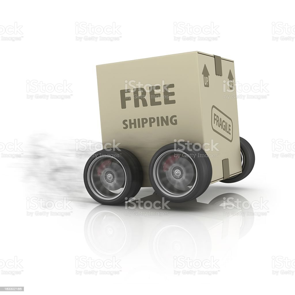fast free shipping package stock photo