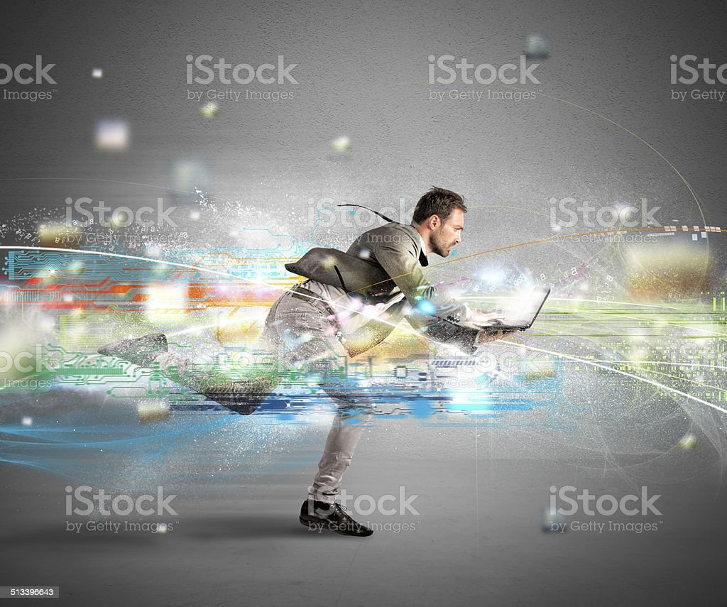Fast internet concept stock photo
