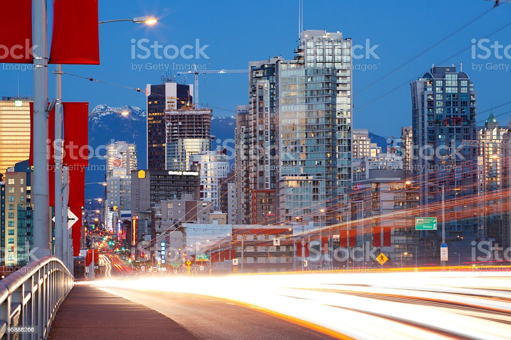 Fast Lane to Vancouver stock photo