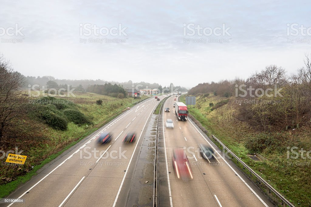 Fast Main Road Traffic stock photo