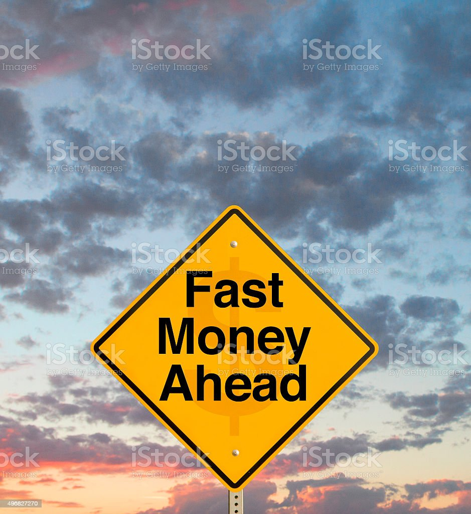 Fast Money Ahead stock photo