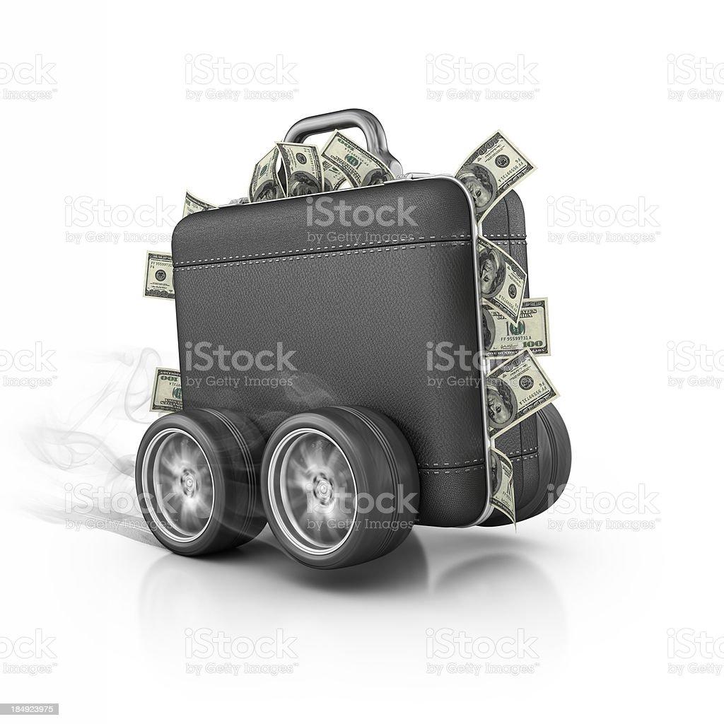 fast money royalty-free stock photo