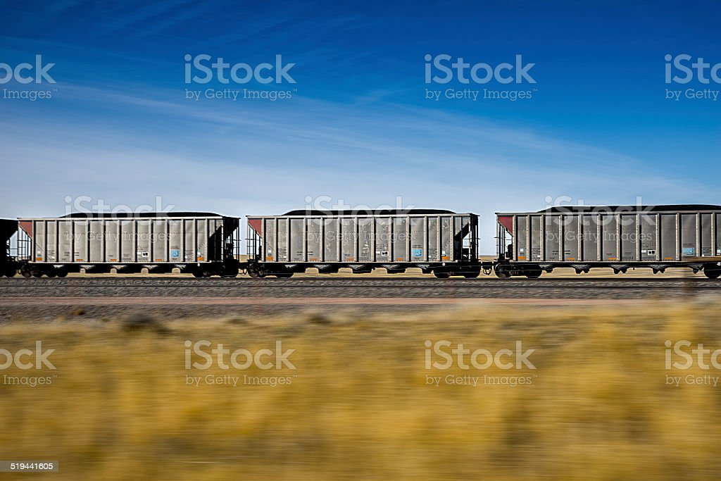 Fast Moving Coal Train stock photo