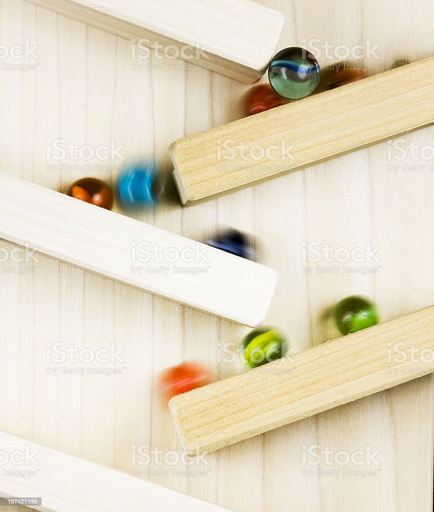 Fast Moving Marbles royalty-free stock photo