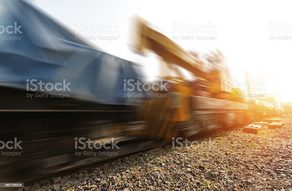 fast moving train royalty-free stock photo