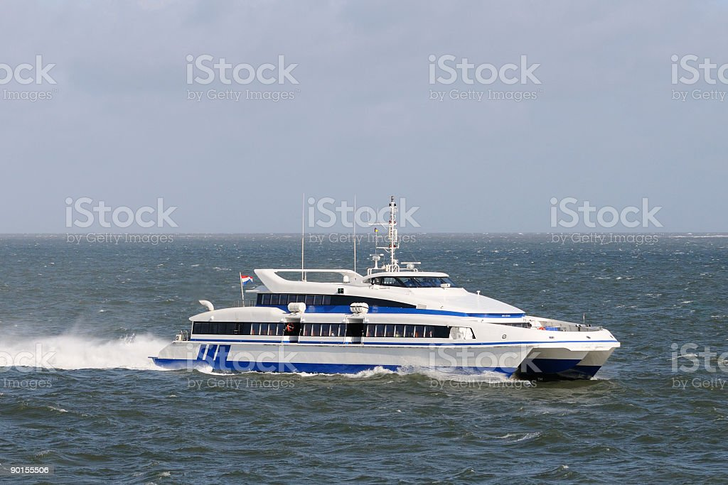 Fast passenger ferry royalty-free stock photo