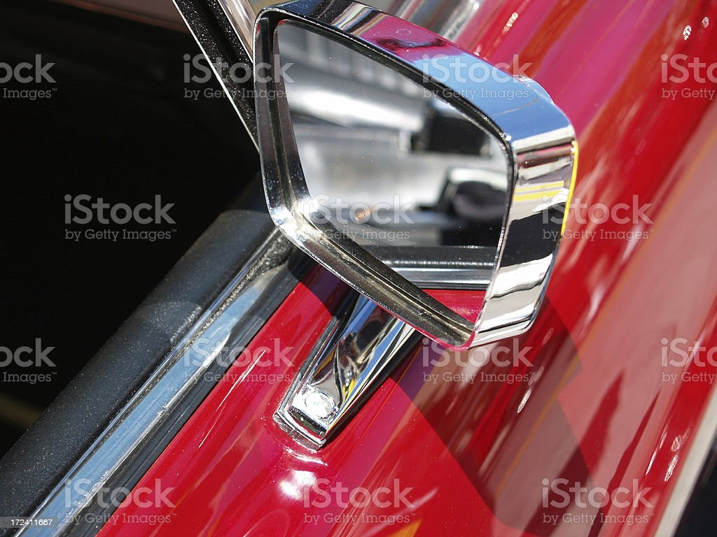 Fast Red Car stock photo