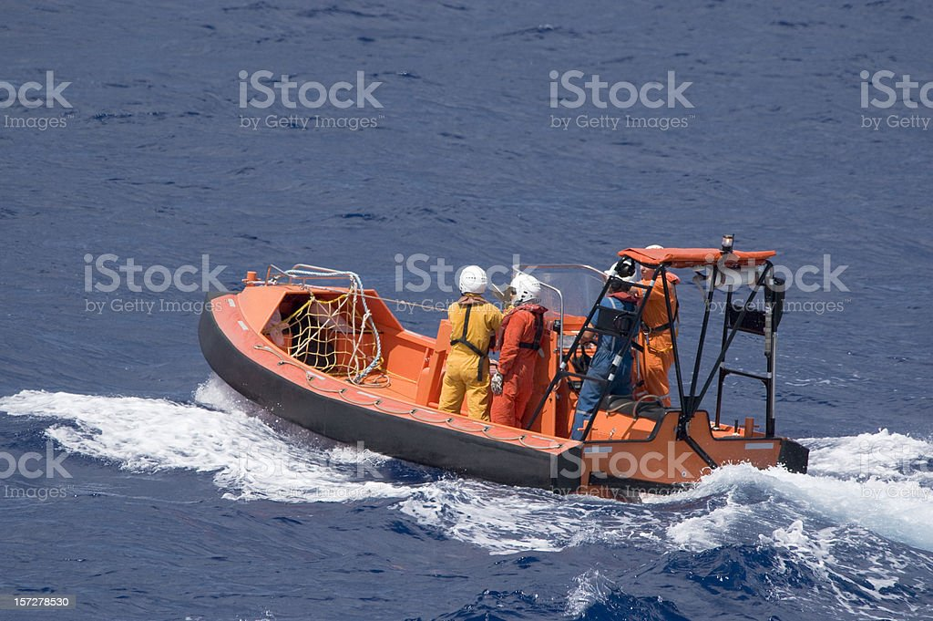 Fast Rescue Vessel (lifeboat) stock photo