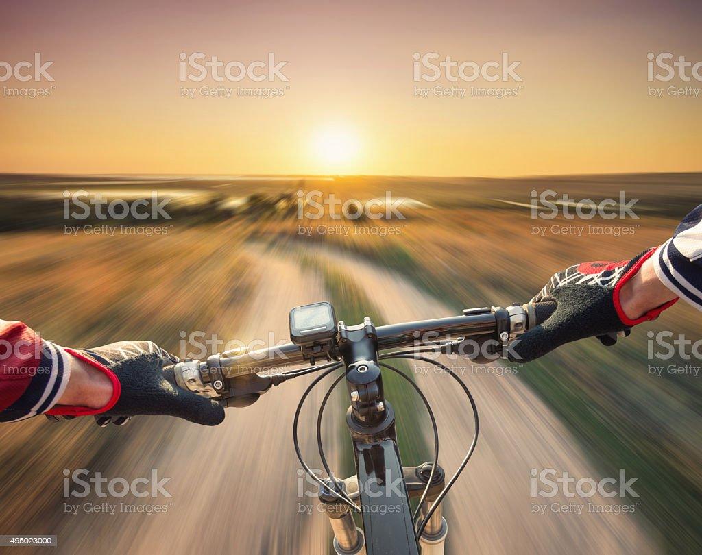 Fast ride stock photo