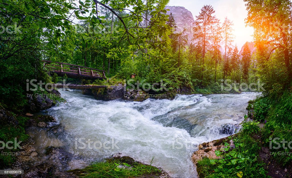 fast river stock photo