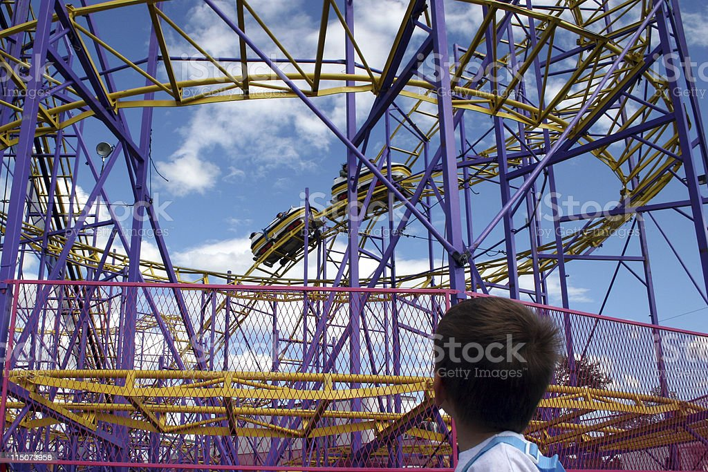 Fast Roller Coaster royalty-free stock photo