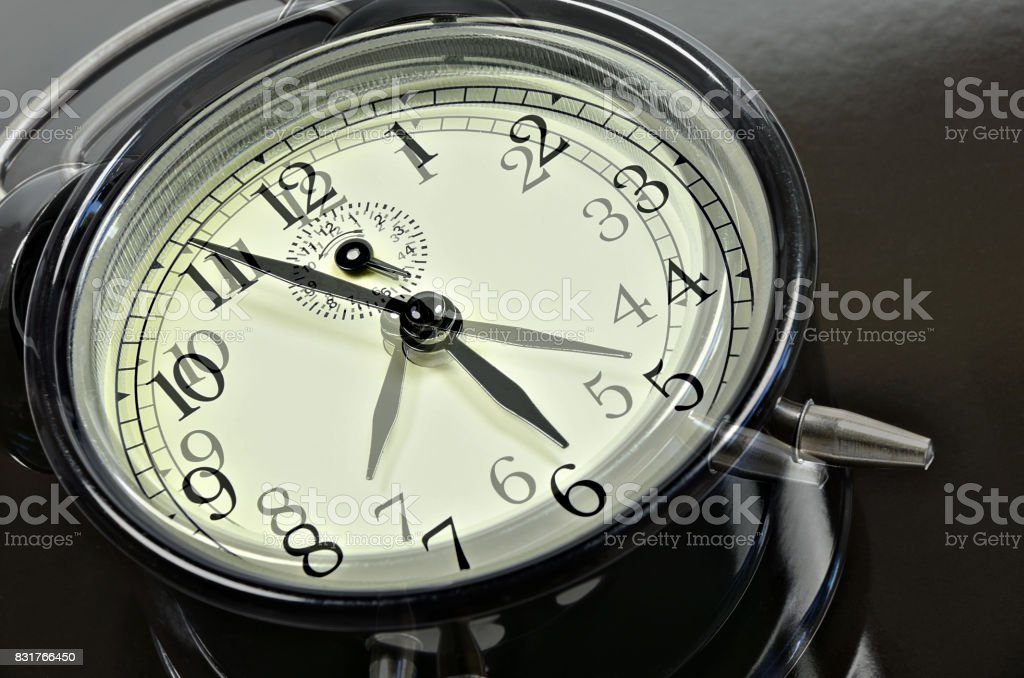 Fast running Time stock photo